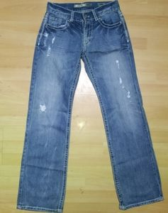 Men's BKE JUSTIN jeans boot cut distressed 30 x 34